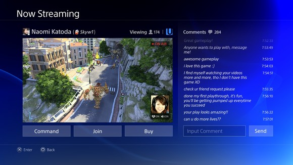 Playstation 4 GUI
