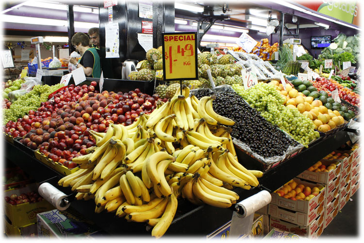 Fruit and Veg variety at Adelaide Central Market