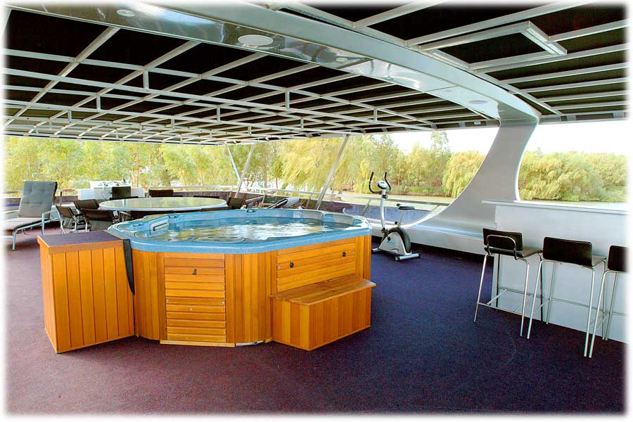 Whitewater Houseboat Deck