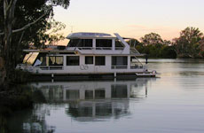 Castaway Houseboat moored River Murray